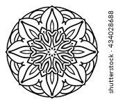 mandala. herbal decorative... | Shutterstock .eps vector #434028688