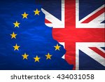 flags of the united kingdom and ... | Shutterstock .eps vector #434031058