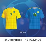 color soccer t shirts of... | Shutterstock .eps vector #434032408