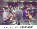 microphone over the abstract... | Shutterstock . vector #434034400