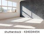 white empty loft interior with... | Shutterstock . vector #434034454