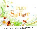 summer nature background design ... | Shutterstock .eps vector #434037010