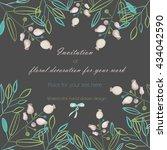 background  template postcard... | Shutterstock . vector #434042590