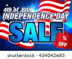 sale. 4th of july. independence ... | Shutterstock .eps vector #434042683