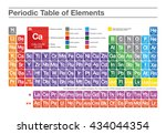 periodic table of elements.... | Shutterstock .eps vector #434044354