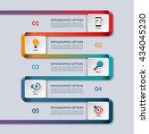 infographic ribbon template.... | Shutterstock .eps vector #434045230