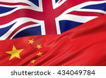 3d illustration of uk and china ... | Shutterstock . vector #434049784