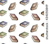 hand drawn cartoon books... | Shutterstock .eps vector #434050849