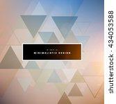 geometric vector background.... | Shutterstock .eps vector #434053588