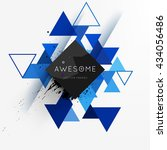 geometric vector background.... | Shutterstock .eps vector #434056486