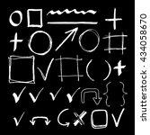 hand drawn sketch white chalk... | Shutterstock .eps vector #434058670