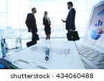 financial report  computer and... | Shutterstock . vector #434060488