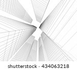 architecture abstract  3d... | Shutterstock . vector #434063218