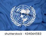 waving flag of united nations   Shutterstock . vector #434064583
