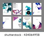 abstract background. geometric... | Shutterstock .eps vector #434064958