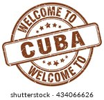 welcome to cuba. stamp | Shutterstock .eps vector #434066626