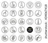 set of icons of wine. icons...   Shutterstock .eps vector #434067418