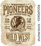 western pioneers rodeo  vector... | Shutterstock .eps vector #434069206