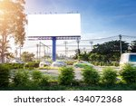 billboard blank for outdoor... | Shutterstock . vector #434072368