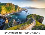 stairs in san juan de... | Shutterstock . vector #434073643