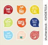 holiday vacation stickers and... | Shutterstock .eps vector #434087014