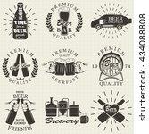 vintage craft beer brewery... | Shutterstock . vector #434088808