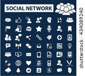 social network icons  | Shutterstock .eps vector #434089240