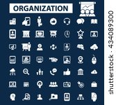 organization icons  | Shutterstock .eps vector #434089300