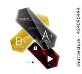 arrow infographics. vector... | Shutterstock .eps vector #434090494