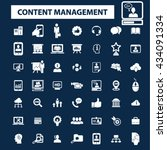 content management icons  | Shutterstock .eps vector #434091334
