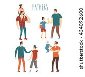 set of cartoon people.fathers... | Shutterstock .eps vector #434092600