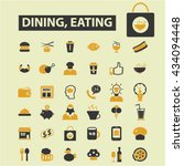 dining eating icons  | Shutterstock .eps vector #434094448