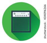 audio monitor icon. flat design....