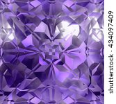 continuous   crystal pattern | Shutterstock . vector #434097409