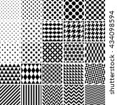 set of 25 classic geometric...   Shutterstock . vector #434098594