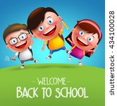 back to school students vector... | Shutterstock .eps vector #434100028