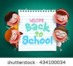 back to school colorful  text... | Shutterstock .eps vector #434100034