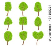 decorative trees set of... | Shutterstock .eps vector #434100214