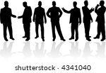 businessman  vectors work | Shutterstock .eps vector #4341040