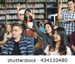 student study classmate... | Shutterstock . vector #434110480