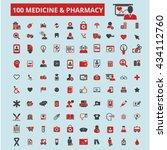 medicine pharmacy icons  | Shutterstock .eps vector #434112760