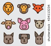 animals faces set | Shutterstock .eps vector #434113234
