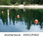 reflection on a mountain lake...   Shutterstock . vector #434119363