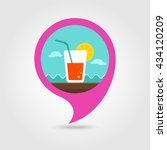 cocktail vector pin map icon.... | Shutterstock .eps vector #434120209