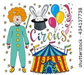 circus hand drawn collection... | Shutterstock .eps vector #434137738