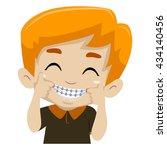 vector illustration of kid boy... | Shutterstock .eps vector #434140456