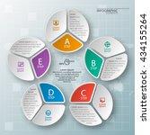 vector abstract 3d paper... | Shutterstock .eps vector #434155264