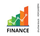 finance logo. growing graph... | Shutterstock .eps vector #434164894