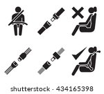 seat belt icons  set of... | Shutterstock .eps vector #434165398