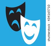 theatrical masks laughter and... | Shutterstock .eps vector #434165710